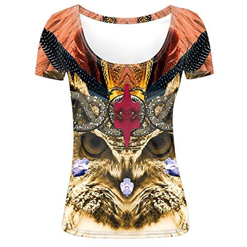 Tribal Eagle Scoop Neck Womens T shirt M