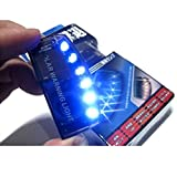 Milkee カーセキュリティライト 警告ライト 青光 盗難防止 ダミー  6 LED撃退 配線不要 ソーラー 充電 点滅