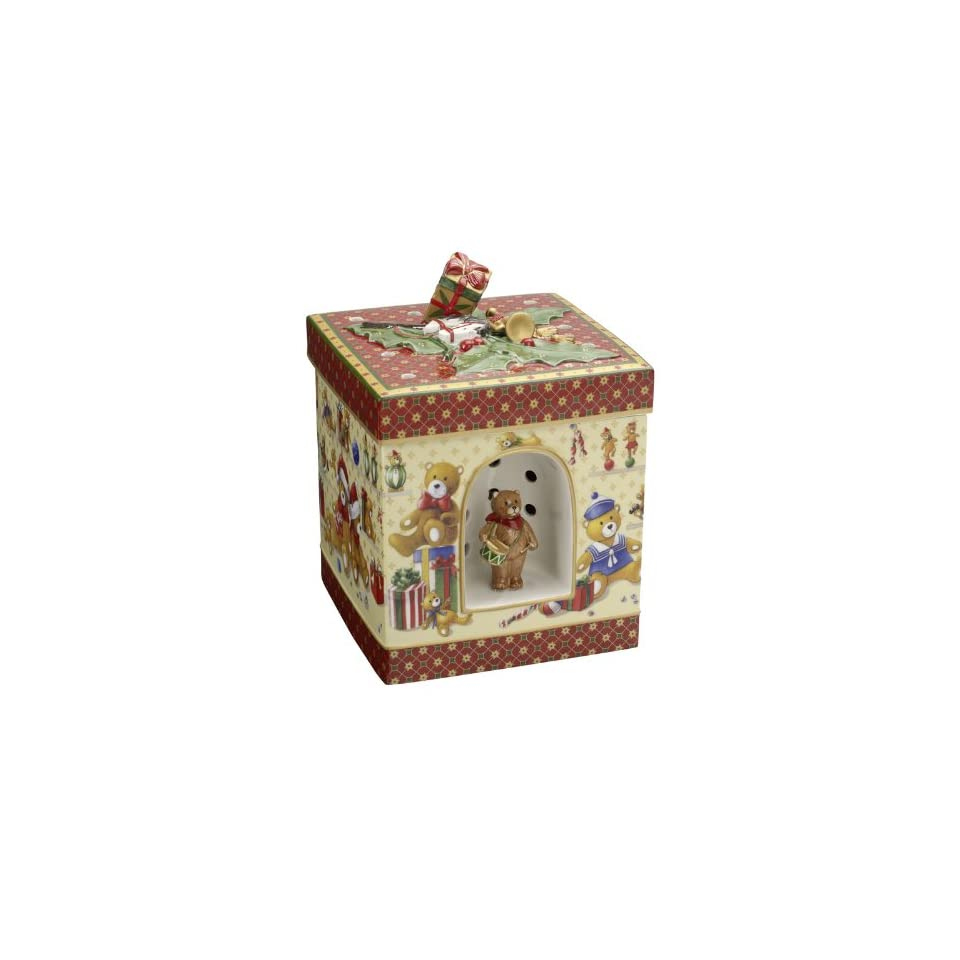 VILLEROY & BOCH Christmas Toys Large Square Gift Box   Teddy Bears