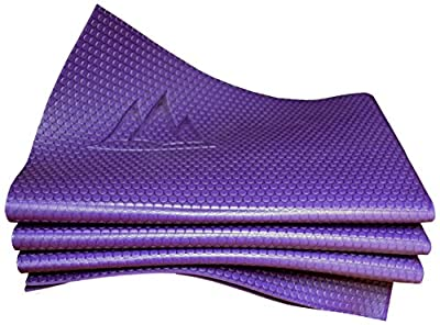 Khataland YoFoMat PRO, Professional Foldable Yoga & Pilates Mat, with Travel Bag, Extra Long 72-Inch, Extra Wide 26-Inch, Royal Purple