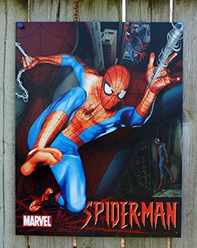 "Marvel - Spiderman Tin Sign 12.5""W x 16""H , 13x16"