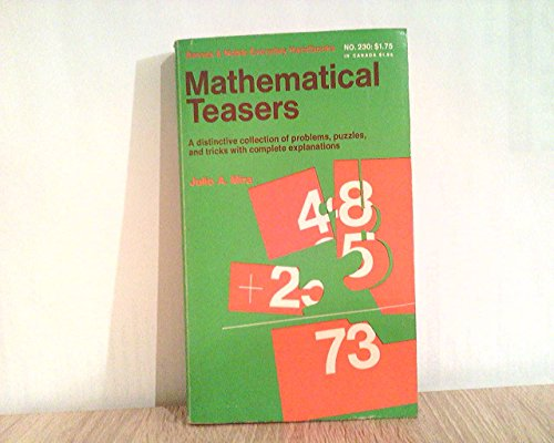 Image for Mathematical teasers (Barnes & Noble everyday handbooks, no. 230)