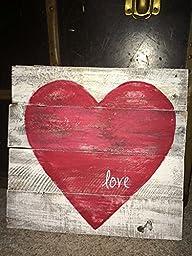 Valentine heart wall décor, rustic heart