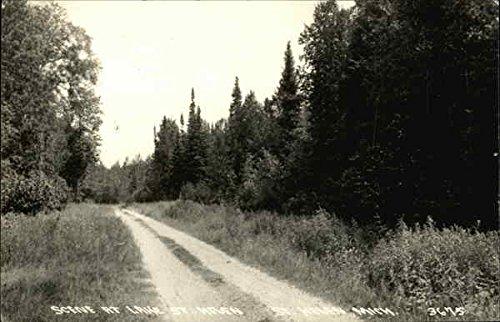 Rural Road at Lake St. Helen in St. Helen, Michigan