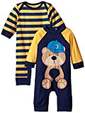 Gerber Baby-Boys Newborn Navy Bear 2 Pack Coverall, Navy Bear, 3-6 Months