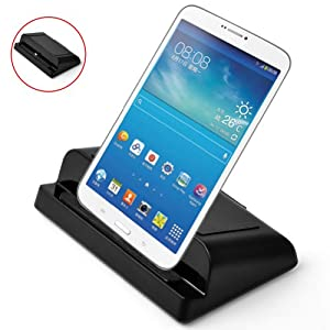 """E-PRANCE 3 in 1 USB Powered Charging Dock for Samsung Galaxy TAB 3 7"""" 8"""" 10.1"""",Data Synchronize/Phone(tablet) charger/can be used as scaffold,Black at Electronic-Readers.com"""