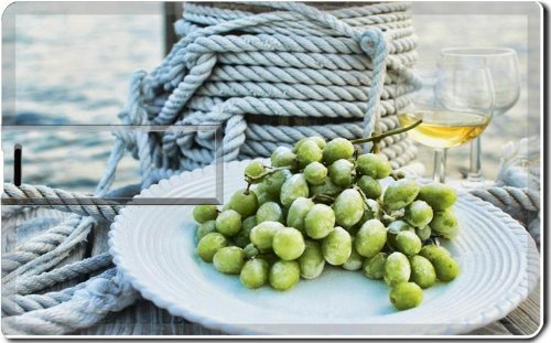 Frozen Grapes And Wine Fruit Beverage 8G Usb Flash Drive 2.0 Memory Stick Luxlady Usb Credit Card Size Customized Support Services Ready Windows Mac Storage External front-547173