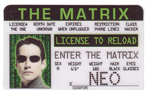 Matrix Fun Fake ID License