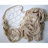 großes Deko Netz Fischernetz ca. 150x300cm Beige Baumwolle Maschen 4x4cm