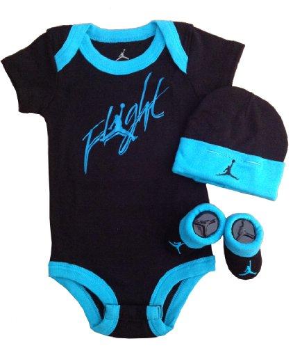 Nike Jordan Baby Shoulder Bodysuit, Booties and Cap 0-6 Months with