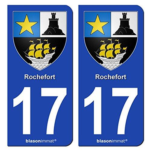 2-autocollants-de-plaque-dimmatriculation-auto-17300-rochefort-armoiries