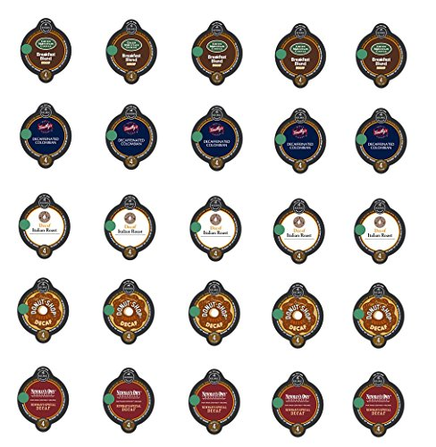 20 Count - Variety Decaf Coffee Vue Cups for Keurig Vue Brewers - (5 flavors, 4 vue cups each) (Keurig Vue Cup Donut Shop compare prices)
