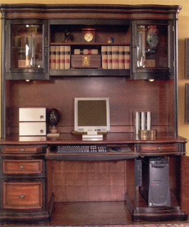 Buy Low Price Comfortable Two-Toned Warm Brown Finish Grand Style Home Office Computer Desk with Hutch – Coaster Co. (B003XR66S2)