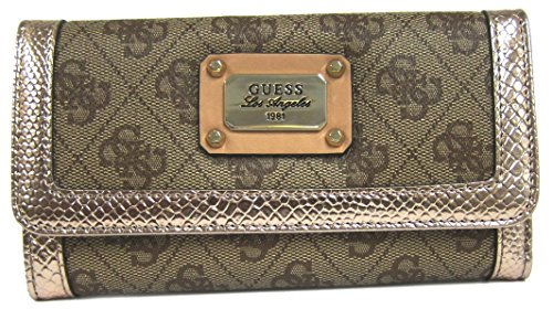 Guess Cheatin' Heart Slg Slim Clutch Wallet, Rose Gold
