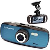 E-PRANCE® New Blue G1W Novatek FHD 1080P 30FPS Car DashBoard Camera Driving Recorder + 2.7 Inch Screen + G-sensor + Car License plate + MOV + 120 degree wide angle lens + Night Vision + H.264
