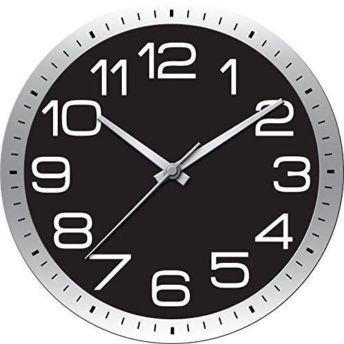 Ashton Sutton HOC021 QA Round Modern Wall Clock 22-Inch