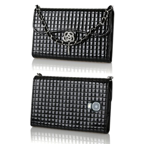 Ihand Handbag Clutch Wallet Case With Bling For Samsung Galaxy S4 Siv S Iv I9500 [Retail Package] - Black