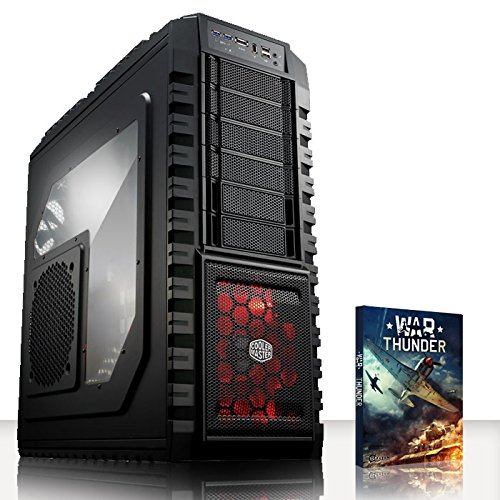 VIBOX Inferno Turbo 5 - Extreme Leistung, Gamer, Gaming PC, Ultimative Spec, Desktop PC USB3.0 Computer mit WarThunder Spiel Bundle PLUS eine lebenslange Garantie* (Neu 4.4GHz Overclocked Intel, I7 4790K Schnell Quad-Core, Haswell, Erweiterte, Prozessor, 2 GB Overclocked nVidia Geforce GTX 960 Grafikkarte, 120GB SSD Solid-State-Laufwerk, Große 2TB Festplatte, Corsair CX750M PSU, Corsair H80i Wasser CPU Kühler, Z87 SKT1150 Motherboard, Blu -Ray ROM, 32 GB 1600MHz RAM, Kein Betriebssystem)