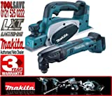 Makita BKP180Z 18V Li-Ion 82mm Cordless Planer Plus BTM50Z LXT 18v Universal Multi-Tool (Body only)