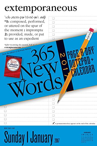 365 New Words Notepad + Calendar 2017