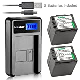 Kastar Battery (X2) & LCD Slim USB Charger for Panasonic VW-VBG070, VW-VBG130, VWVBG260, VBG6 and SDR-H40, SDR-H80 Series, HDC-HS700, TM700, HS300, TM300, HS250, SD20, HS20, HDC-SDT750 Camcorders etc.