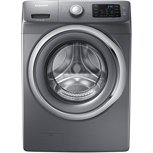 Samsung WF42H5200AP Energy Star 4.2 Cu. Ft. Front-Load Steam Washer with SelfClean, Platinum