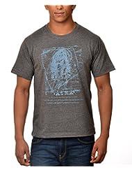 Nirvana Aatma- Mens Grey Colour Round Neck Tshirts