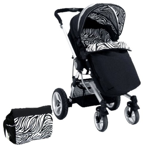 Petite Star Kurvi Abstract Pushchair Including Footmuff, Change Bag and Liner (Tribal)
