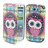 B77 Painting Art Owl Design PU leather Flip Cover Case for Samsung Galaxy III S3 I9300 +1gift