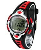 Kids Watches Flash Lights 50m Waterproof Chronograph Digital Sports Watch - Red Color
