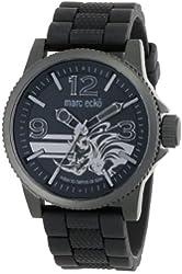 Marc Ecko Men's E11587G1 The Flint 3 Hand Movement Black Dial Watch