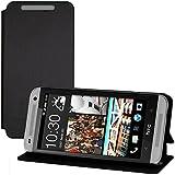 kwmobile Étui de protection à rabat pratique et chic pour HTC Desire 601 en Noir