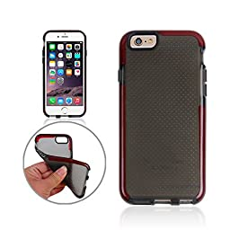 Lumeey Evo Mesh Case (Super Drop Protective) for iPhone 6 plus and 6S plus-Red