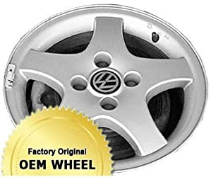 VOLKSWAGEN JETTA,GOLF 14X6 5 SPOKE Factory Oem Wheel Rim- SILVER – Remanufactured