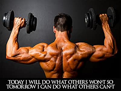 Workout Poster Fitness Poster Bodybuilding Poster 18x24