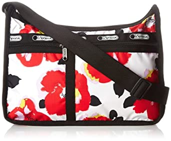 LeSportsac Deluxe Everyday Handbag,Garden Poppy,One Size