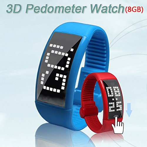 8Gb Multi-Functional 3D Led Display Pedometer Smart Watch Usb Flash Drive With Stylish Signature - 5 Colors