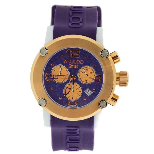 Mulco - Reloj de pulsera mujer, caucho, color morado
