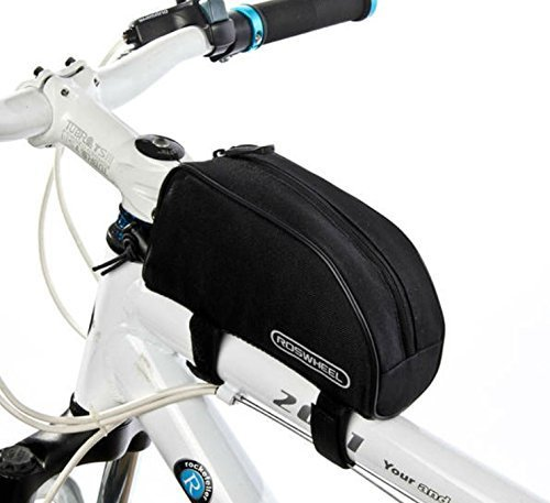Best Price! Allnice® 1L Outdoor Mountain Bicycle Cycling Frame Front Top PVC Tube Bag Bike Pouch