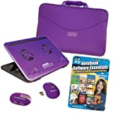 PC Treasures Computer Accessory Kit with Digital Download Software for 17.3-Inch Netbook - Purple