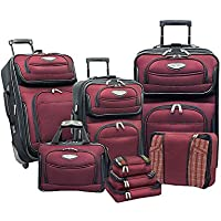 Traveler's Choice Amsterdam II 8-Piece Luggage Set (Multiple Color)