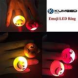 KUMEED Bright Flashing Emoticon LED Rings Pack of 36