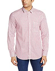 IZOD Men's Casual Shirt (8907163478474_ZKSH0214_X-Large_Red)