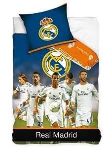 Real Madrid étoiles simple housse de couette et taie d'oreiller