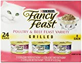 Fancy Feast Gourmet Cat Food, 3-Flavor Grilled Variety Pack (Beef, Turkey & Chicken), 3-Ounce Cans (Pack of 24)