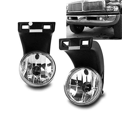 ZMAUTOPARTS Dodge Ram 1500 2500 3500 Pickup Truck Bumper Fog Lights Chrome (96 Dodge Ram Fog Lights compare prices)