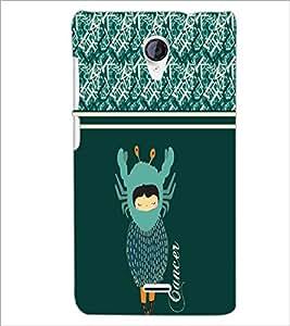 PrintDhaba Zodiac Cancer D-4805 Back Case Cover for MICROMAX A106 UNITE 2 (Multi-Coloured)