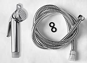 BAFA ABS Protable Outdoor Garden Chrome Hand Held Douche Bidet Toilet Shattaf Diaper Sprayer Kit Shower Head Sets With Adjustable Pressure Shut-Off Valve And Hose