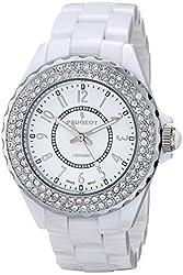 Peugeot Women's PS4880WS Analog Display Swiss Quartz White Watch