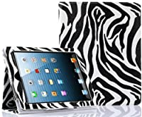 SUPCASE Apple iPad 4 & iPad 3 with Retina Display Slim Fit Folio Leather Case (Zebra Black) - Elastic Hand Strap, Support Auto Wake/Sleep, Compatible with iPad 2, Not Fit iPad 5 from SUPCASE